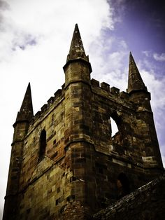 Port Arthur church tower Van Diemen's Land, Port Arthur, Tasmania, Beautiful Islands, Tower Bridge, Ancestry, Towers, Continents, Castles