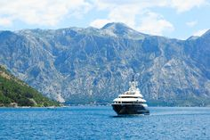Sailing with a yacht in one of the most beautiful cruising grounds in the world - fjordish Bay of Kotor Luxury Yachts, Montenegro, Sailing, Most Beautiful, Mountains, World, Nature, Travel, Candle