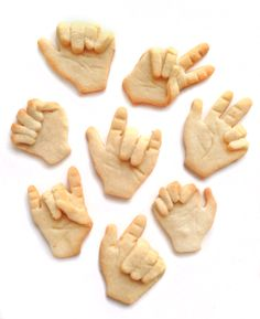 Sign away with hand cookies by #BakedIdeas