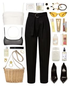 """Babe Body"" by sophiehackett ❤ liked on Polyvore featuring Witchery, Yves Saint Laurent, Catbird, Babe, Illesteva, Davines, Herbivore, UKA, Byredo and Clinique"