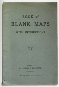 Book of Blank Maps With Instructions