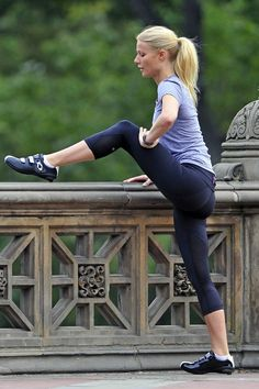 gwenyth in central park. same spot as my boot camp!