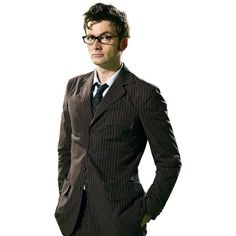Dr. Who Brown Pinstripe Suit ($199) via Polyvore featuring costumes, david tennant, tenth doctor and brown costume