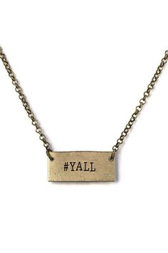 #YALL Necklace - Hesed Boutique