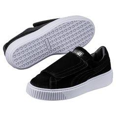 d993dca3f611 Puma Basket Platform Strap Velvet Rope Women s Sneakers Woman Low Boot New