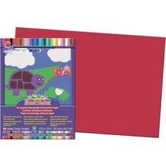 "Construction Paper, SunWorks® 12"" x 18"", Red, PAC6107"