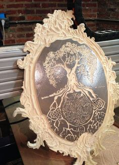 Celtic Tree of Life woodcarving wall art by TickTockTempus on Etsy, $100.00