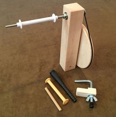 Maple Weavers' Shuttle Bobbin Winder for Weaving Loom, Bobbins, & Boat Shuttle #FiberArtistSupplyCoLLC