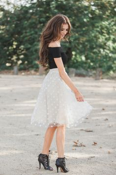 Tulle skirts, ballerina skirts, Morning Lavender, polka dot skirts, date night…