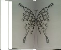A friends asked me to draw a butterfly for autism Tattoo. Here it is. Hope you all like it!