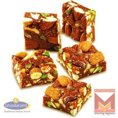 Buy Ghasitaram Dryfruit Nut Khut Online exclusive from mithaivala for your Family and Friends     Sweet Net weight will be : 400 grams