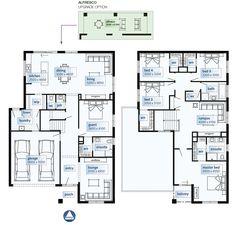 Simonds Homes Floorplan - Westwood Family House Plans, Best House Plans, Dream House Plans, House Floor Plans, Double Storey House Plans, Double Story House, Pool House Designs, Modern House Design, Simonds Homes
