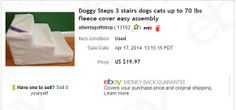 Doggy Steps - bought at garage sale for $5 sold for $19.97 + shipping