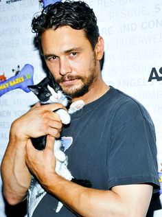 James Franco and kitteh. Okay! Maybe I'm not pinning these JUST for the cats...so sue me...