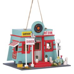 Zingz & Thingz Route 66 Diner Hanging Birdhouse