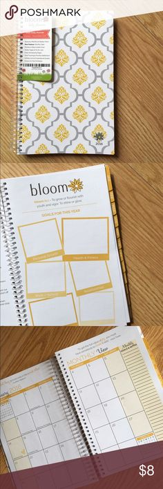 Bloom planner/agenda Cute bloom 2016 planners, I have restocked.Usually retails for $24 each so I'm selling them for $8 + shipping included.   -I'm willing to do 2 for $12 + shipping included  -3 for $15 + shipping included  Comment if you're interested in buying 2+++ so I can make a personal post for you to buy. Accessories