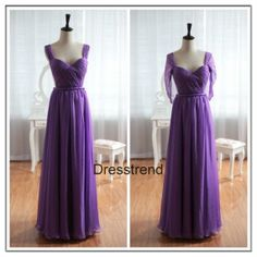 Long Purple Bridesmaid Dress Open Back  Cheap Red by DressTrend, $139.99