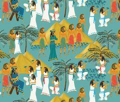 Egyptians fabric by kociara on Spoonflower - custom fabric