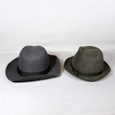 This prop set includes two hats. One hat is black in color and the other is navy blue. The black hat is a size 61cm or UK 7.5. The Navy hat appears to be a size 62 cm. Both are in good condition. | eBay!