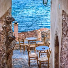A cup of coffee please... Monemvasia, Lakonia, Greece...