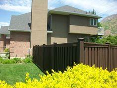 #TrexFencing #CompositeFencing #Garden #Backyard #Landscape #WoodlandBrown Trex Fencing, Composite Fencing, Fence, Woodland, Backyard, Landscape, Garden, Outdoor Decor, Home Decor