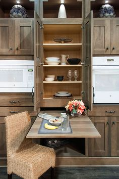a hideaway table by Wellborn Cabinets