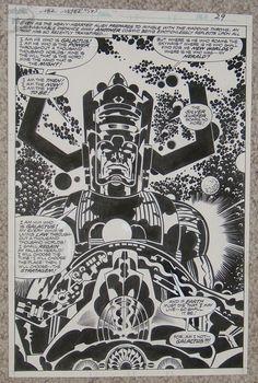 Galactus by Jack Kirby, inked by Joe Sinnott. Wow.