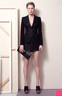 Brocade Fellini Jacket, Brocade Tive Skirt, Bailey Mules, Lexie Clutch