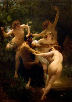 William Adolphe Bouguereau - Nymphs and Satyr 1873