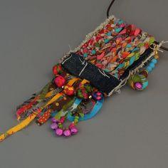 upcycled jewelry  Denim jewelry  Blue jeans jewelry  Ooak