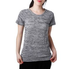 6c2d3095044e3 (Promotion price  4.29) Women Yoga Shirt for Fitness Running Sports T Shirt