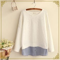 Buy Fairyland Striped Panel Long-Sleeve Top at YesStyle.com! Quality products at remarkable prices. FREE WORLDWIDE SHIPPING on orders over US$35.