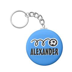 Shop Personalized soccer ball keychain for kids name created by logotees. Soccer Birthday, Cute Birthday Gift, Soccer Party, Personalized Gifts For Kids, Diy For Men, Team Gifts, Custom Buttons, Kid Names, Soccer Ball