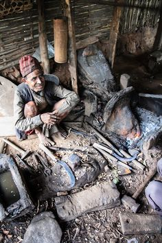 Ilam, Nepal. The local blacksmith. A respected elder.