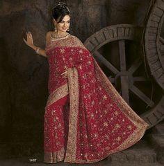 Image detail for -Magenta Party Wedding Designer Vogue Dress Sari Saree