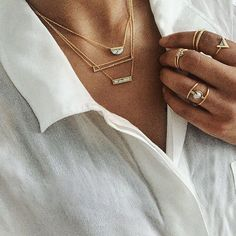 I love necklaces and rings with a touch of marble❤️ #marble #jewellery