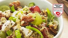Quinoa-Chicken Salad with Toasted Walnuts, Grapes and Arugula