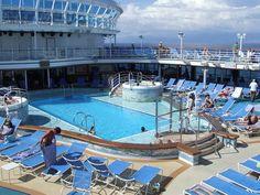Emerald Princess cruise ship swimming pool