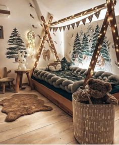 Perfect for forest themed bedroom or nursery Baby Bedroom, Baby Boy Rooms, Nursery Room, Kids Bedroom, Bedroom Decor, Kid Rooms, Dream Bedroom, Rooms For Boys, Baby Room Decor For Boys