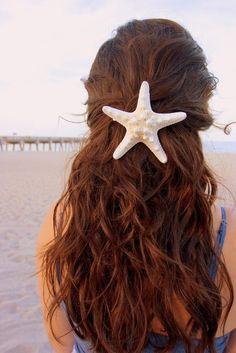 Starfish hair barette- great idea!