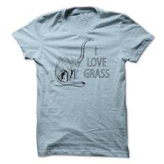 I Love Grass T Shirts, Hoodies. Get it now ==► https://www.sunfrog.com/Funny/I-Love-Grass.html?41382