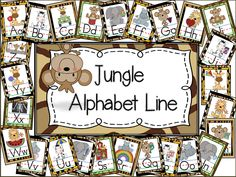 Alphabet Lines Galore for your Classroom Decor! - Little Warriors Preschool Classroom Themes, Preschool Jungle, Jungle Theme Classroom, Preschool Crafts, Classroom Decor, Classroom Organization, Classroom Displays, Classroom Calendar, Classroom Posters