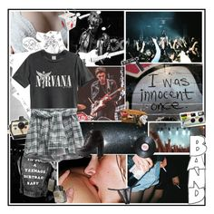 """""""Band"""" by nikkisspies ❤ liked on Polyvore featuring Polaroid, Charlotte Russe, No-One and C.R.A.F.T."""