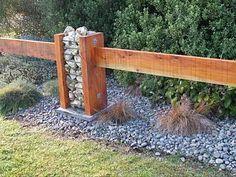Gabion fence post