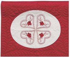 = free pattern =  Hearts and Flowers redwork by Joan Shay | AQS blog