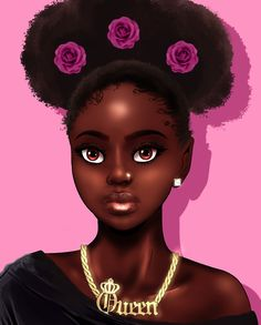 ⭐Explore more Wallpapers Black Love Art, Black Girl Art, My Black Is Beautiful, Black Girls Rock, Beautiful Women, African Girl, African American Art, African Beauty, Natural Hair Art