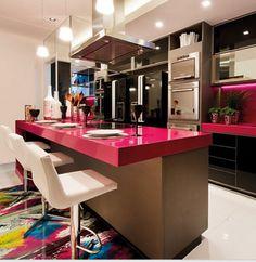 Cozinhas Integradas Inteligentes e Clean!!! Amo!