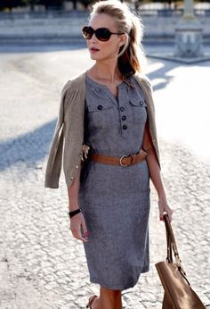 casual business chic office dress