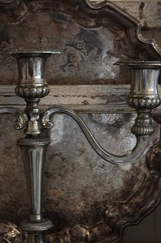 Old silver has such a warm and inviting patina, love having it in my home Silver Trays, Silver Plate, Silver Candlesticks, Silver Candelabra, Silver Cutlery, Vintage Silver, Antique Silver, Chandeliers, Tarnished Silver