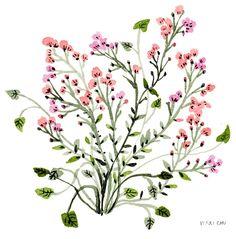 Pink Flowers, an art print by Vikki Chu - INPRNT